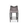 Elise Upholstered Studded Grey Fabric Bar Stool 1