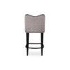 Elise Upholstered Studded Grey Fabric Bar Stool 4