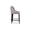 Elise Upholstered Studded Grey Fabric Bar Stool 3