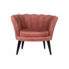 Flower Upholstered Blush Accent Chair 1