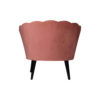 Flower Upholstered Blush Accent Chair 4