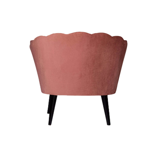 Flower Upholstered Blush Accent Chair Back View