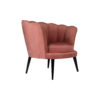 Flower Upholstered Blush Accent Chair 2