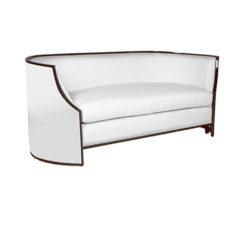 Frisco Upholstered Wooden Frame Sofa Beside View