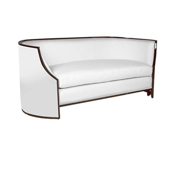 Frisco Upholstered Wooden Frame Sofa Side View