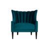 Georg Upholstered Blue Velvet Armchair with Round Back and Black Legs 1