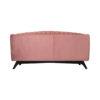 Jennifer Upholstered Striped Blush Velvet Sofa 4