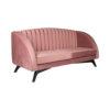 Jennifer Upholstered Striped Blush Velvet Sofa 2