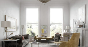 Luxury Living Room with Round Side Table