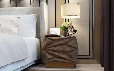 Mahogany Brown Bedside Table