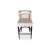 Mara Upholstered Beige Bar Stool 1