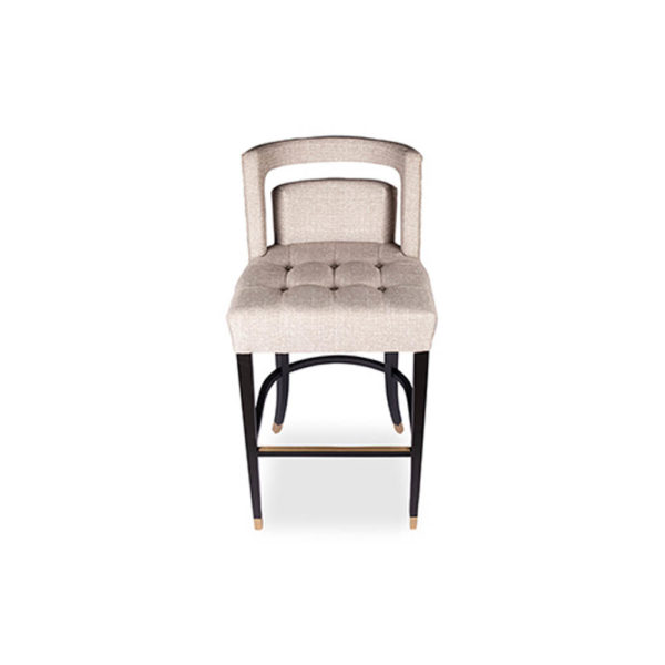 Mara Upholstered Beige Bar Stool