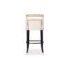 Mara Upholstered Beige Bar Stool 4