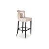 Mara Upholstered Beige Bar Stool 3