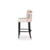 Mara Upholstered Beige Bar Stool 2