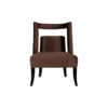 Mara Upholstered Tufted Brown Accent Chair 1