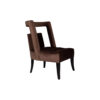 Mara Upholstered Tufted Brown Accent Chair 2