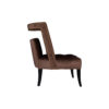 Mara Upholstered Tufted Brown Accent Chair 3