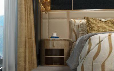 Nova Oval Gray Bedside Table