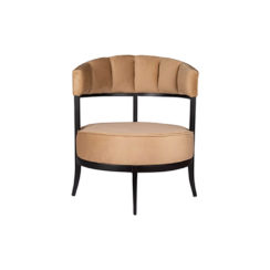 Renata Upholstered Round Back Beige Accent Chair