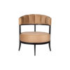 Renata Upholstered Round Back Beige Accent Chair 1