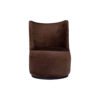 Skylar Upholstered Round Armless Brown Occasional Chair 1