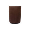 Skylar Upholstered Round Armless Brown Occasional Chair 4