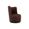 Skylar Upholstered Round Armless Brown Occasional Chair 2