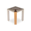 Tree Square Grey Side Table with Golden Stainless Leg 1