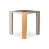 Tree Square Grey Side Table with Golden Stainless Leg 2