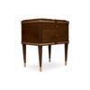 Arabelle 2 Drawers with Brass and Marble Top Bedside Table 2