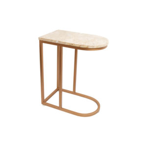 Allure Stainless Steel and Marble Side Table