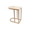 Allure Stainless Steel and Marble Side Table 2