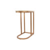 Allure Stainless Steel and Marble Side Table 8