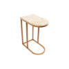 Allure Stainless Steel and Marble Side Table 6