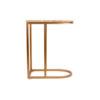Allure Stainless Steel and Marble Side Table 4