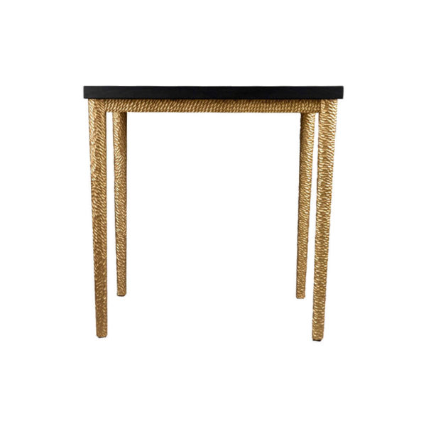Amoir Side Table Black Front