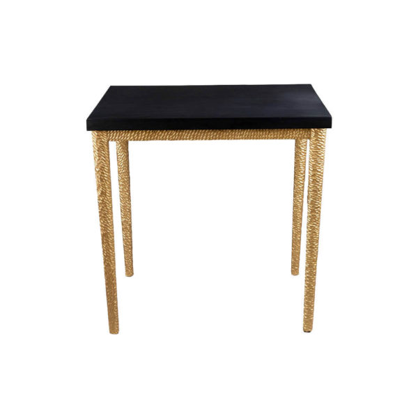 Amoir Side Table Black Front View