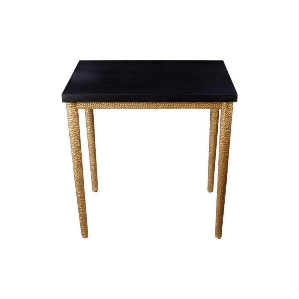 Amoir Side Table Black Top View
