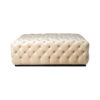 Audrey Tufted Upholstered Cream Ottoman 1