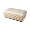 Audrey Tufted Upholstered Cream Ottoman 5