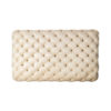 Audrey Tufted Upholstered Cream Ottoman 4
