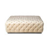 Audrey Tufted Upholstered Cream Ottoman 3