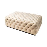 Audrey Tufted Upholstered Cream Ottoman View