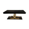 Azaro Wooden Brown and Gold Rectangular Dining Table 1