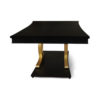 Azaro Wooden Brown and Gold Rectangular Dining Table 3