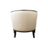 Azure Off White Tufted Armchair with Wooden Frame 11