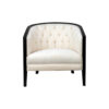 Azure Off White Tufted Armchair with Wooden Frame 7