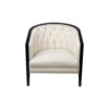 Azure Off White Tufted Armchair with Wooden Frame 2