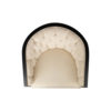 Azure Off White Tufted Armchair with Wooden Frame 8